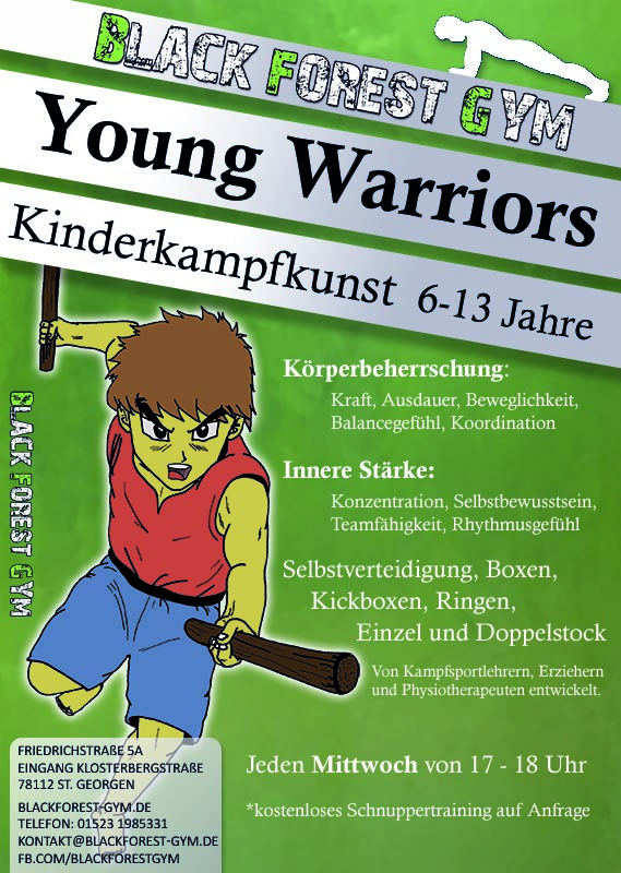 Young Warriors Flyer